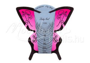 Műköröm sablon 30 db  Rózsaszín pillangó