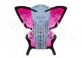 Műköröm sablon 300 db #010 rózsaszín pillangó long