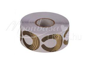 Arany-fekete csíkos mini Műköröm sablon 500 db #016