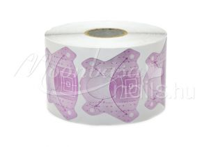 Ezüst lila Műköröm sablon 500 db #007