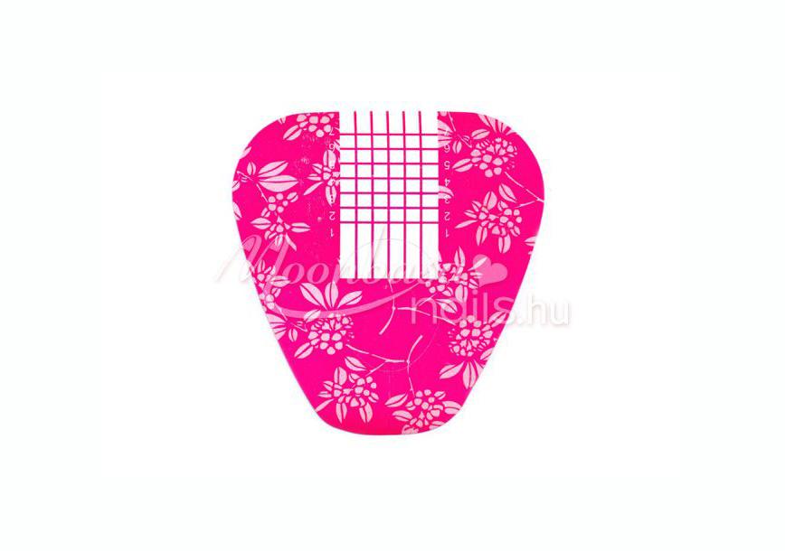 Műköröm sablon 500 db #008 Rózsaszín