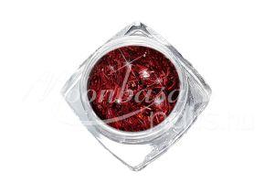 Piros Nagy méretű flitter csíkok 3g FCL108