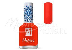 Neon Red Nyomdalakk - Moyra 12ml SP 21