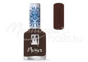 Dark Brown Nyomdalakk - Moyra 12ml SP 13