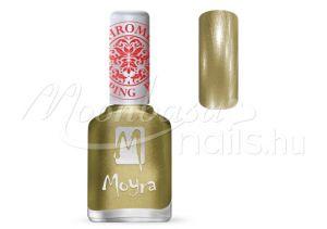 Chrome Gold Nyomdalakk - Moyra 12ml SP 24