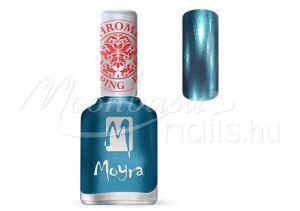 Chrome Blue Nyomdalakk - Moyra 12ml SP 26