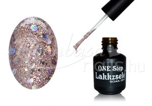 One step géllakk 5ml #263 Sötét szivárvány fedő glitter