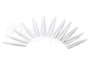 Fehér - hegyes Óriás műköröm tip 12db #001-W