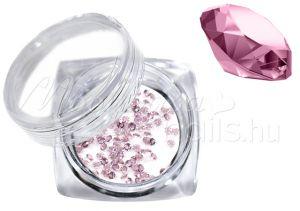 light rose Pixie kristály strasszkő 300db #04