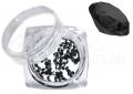 Pixie kristály strasszkő, 300db, #08, bakelit fekete
