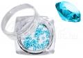 Pixie kristály strasszkő, 300db, #11, türkizkék