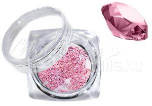 Halvány rózsaszín Pixie kristály strasszkő 300db #18