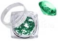 Pixie kristály strasszkő, 300db, #24, Emerald
