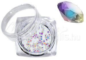szivárvány Pixie kristály strasszkő 300db #27