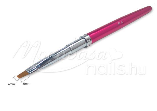 Stasszköves zseléecset lapos #4  Z006-4 Sötét rózsaszín