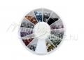 Strasszkő, kör tégelyes, #015, 12 vegyes színű
