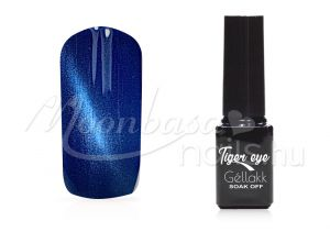 Óceánkék Tiger eye géllakk 5ml #829
