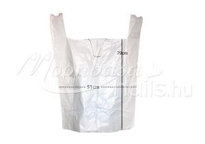 Vastag fehér műanyag zacskó 51cm*79cm 50db/csomag