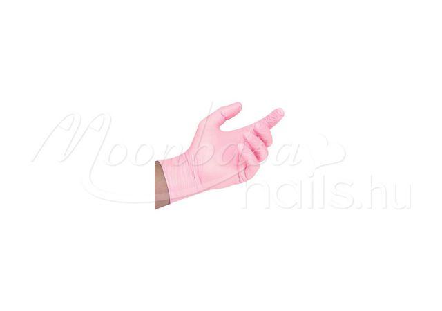 Vinil kesztyű 100db L méret  Rózsaszín