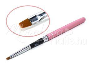 Zselé ecset lapos  Z011-2 Rózsaszín gravírozott