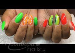 Narancs-kiwi gellakk: One step géllakk, Narancs (71) papagáj zöld (103)