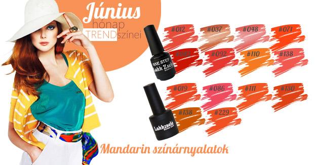 Mandarin gél lakk színek